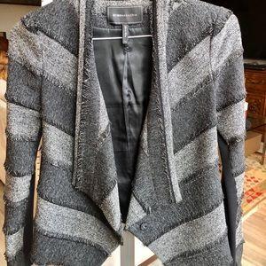 BCBG Maxazria Tweed Asymmetrical Blazer